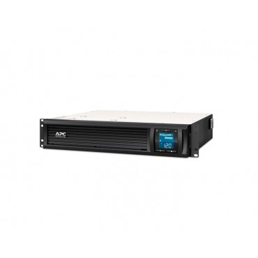 UPS APC Smart-UPS C 1000VA LCD RM 2U 230V with SmartConnect + APC Essential SurgeArrest 5 Outlet 2 USB Ports Black 230V Germany