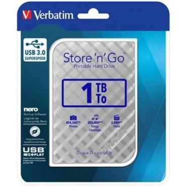 Външни твърди дискове Verbatim ext 1TB USB3.0 Silver 2