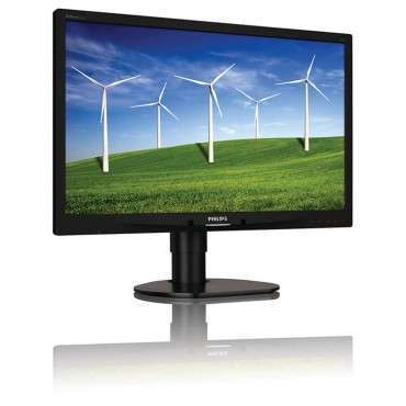 "Монитор Philips 241B4L, 24"", 1920x1080 Full HD 16:9, 250 cd/m2, 1000:1, Silver/Black, TCO 5.2, Stereo Speakers, USB Hub"